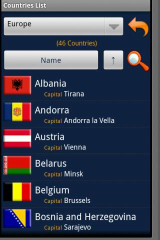 Countries Handbook - screenshot