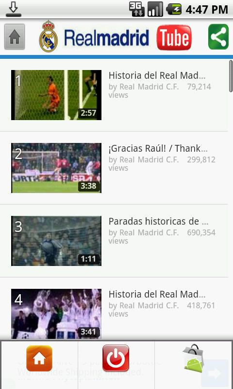 Real Madrid Tube - screenshot