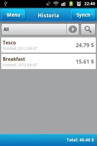 Shopping List- screenshot