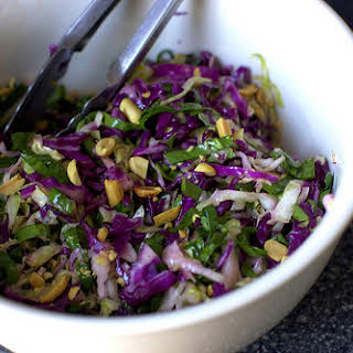 Cabbage and Lime Salad with Roasted Peanuts.