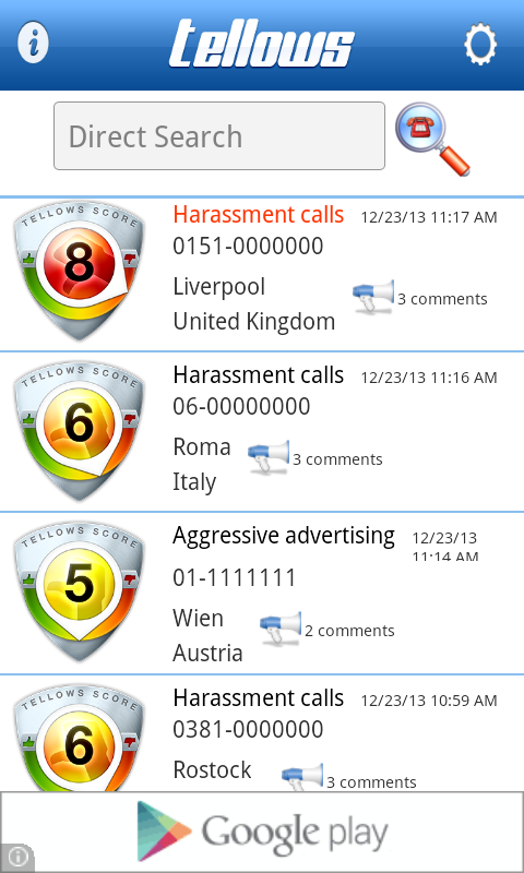 Screenshots of tellows - Know who calls you! for iPhone