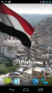 3D Yemen Flag Live Wallpaper- screenshot thumbnail