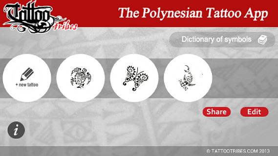 Polynesian Tattoo App- screenshot
