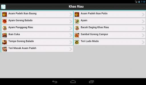 Resep Riau for PC