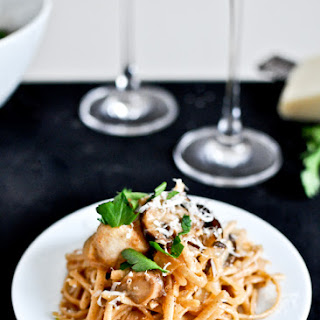 Brown Butter Parmesan Chicken Linguine