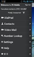 Screenshot of ZVRS Z5 Mobile App