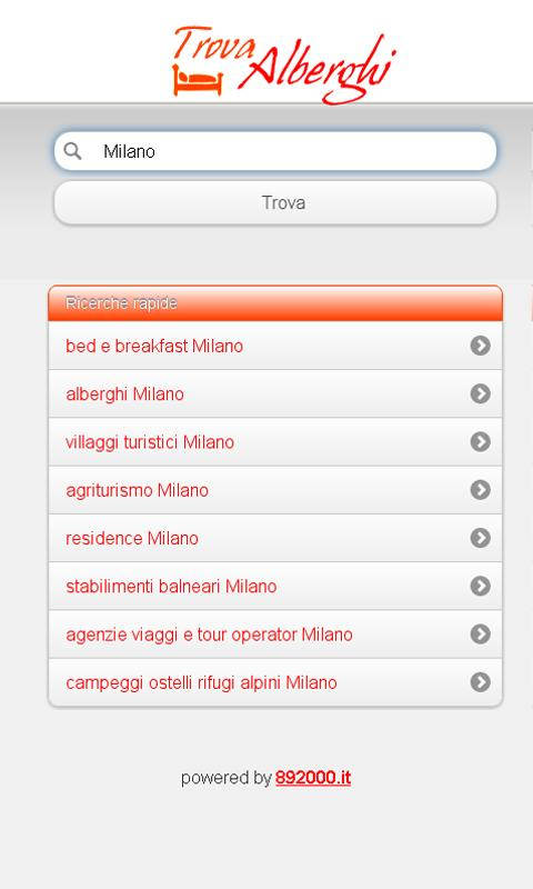 Trova Alberghi- screenshot
