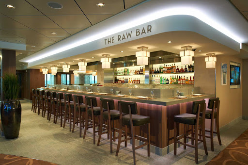 Norwegian-Breakaway-Raw-Bar - A glass of wine, fresh catch, interesting conversation — enjoy all these and more at The Raw Bar on Norwegian Breakaway.