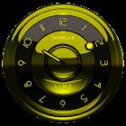 Widget relógio preto limão icon
