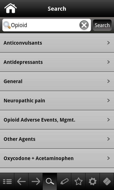 Pain Management pocketcards- screenshot