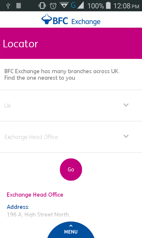 BFC Exchange UK- screenshot