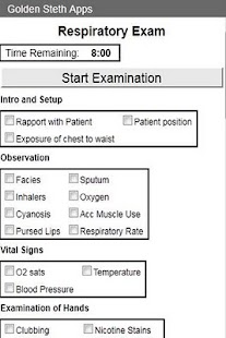 OSCE Repiratory Exam Checklist - screenshot thumbnail