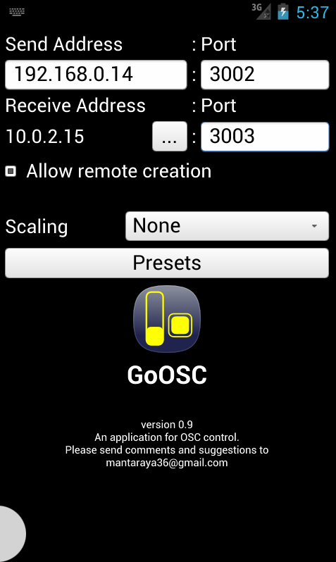 GoOSC- screenshot