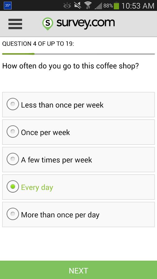 Survey.com Mobile- screenshot