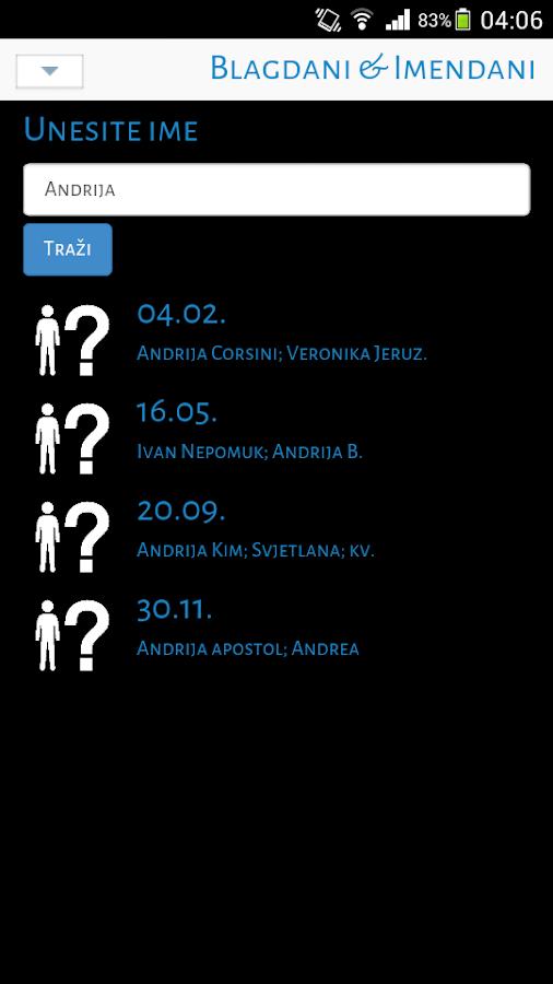 Kalendar (Blagdani&Imendani) - screenshot