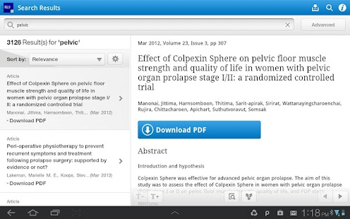 Int'l Urogynecology Journal- screenshot thumbnail