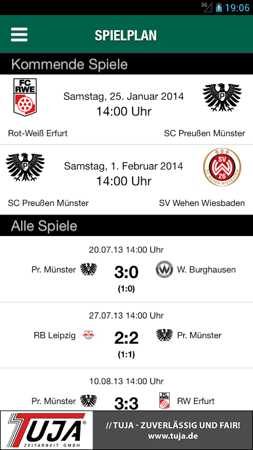 SC Preußen 06 e.V. Münster - screenshot