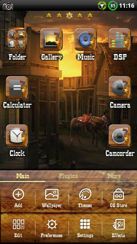 Wild West GO Launcher EX Theme- screenshot