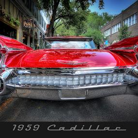 1959 Red Cadillac by David Kawchak - Transportation Automobiles ( 59 caddy, 1959 cadillac, 1959 red cadillac, 1959 classic cadilliac, 1959 classic caddy )