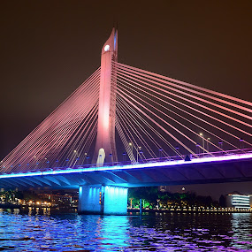 bridge  by Azman Kamaruddin - City,  Street & Park  Night