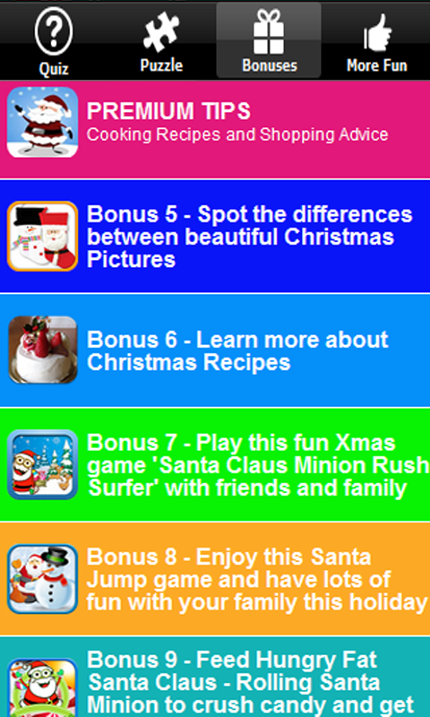 Fun Christmas Trivia Xmas Quiz - screenshot
