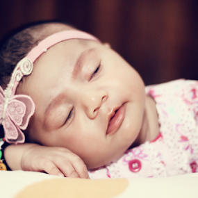 innocent butterfly  by Arslan Mughal - Babies & Children Child Portraits ( #baby-girl, #butterfly, #sleep,  )