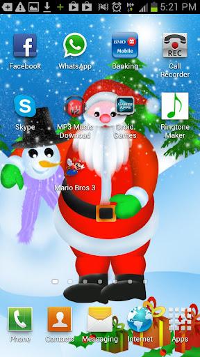 Santa With Snowman