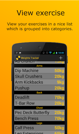 Weights Tracker