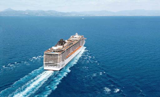 MSC-Splendida-Exterior - Decks on the mid-size luxury liner MSC Splendida are named for Italy's legendary artists, including Michelangelo, Leonardo da Vinci and Botticelli.