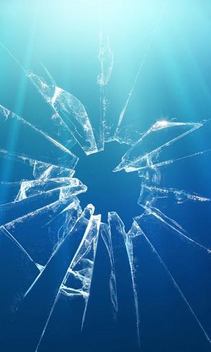 Zerbrochenes Glas Live wall