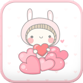 BeBe Heart go launcher theme