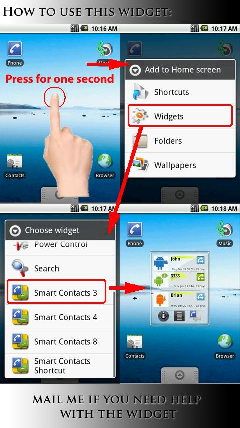 Smart Contacts Widget - screenshot