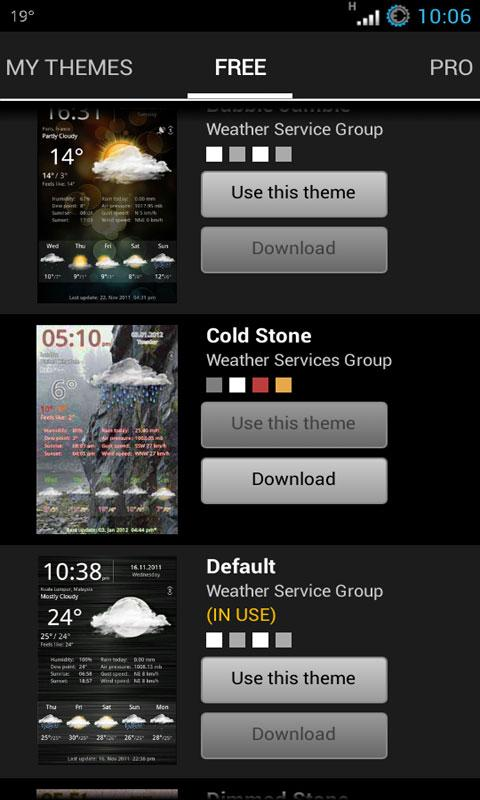 Weather Services PRO - screenshot