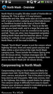 North Wash Trip Guide