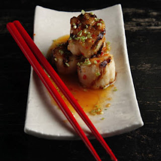 Grilled Scallops with Yuzu Kosho Vinaigrette