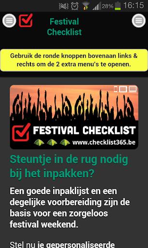 Festival Checklist NL