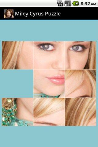 Miley Cyrus Game Puzzle - screenshot