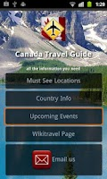 Screenshot of Canada Travel