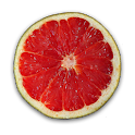 Fruit Clock Grapefruit Widget
