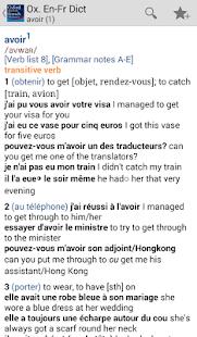 Oxford French Dictionary- screenshot thumbnail