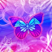 Purple Butterfly theme 480x800