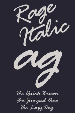 Rage Italic 영문 Flipfont