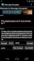 Screenshot of Message Encrypter