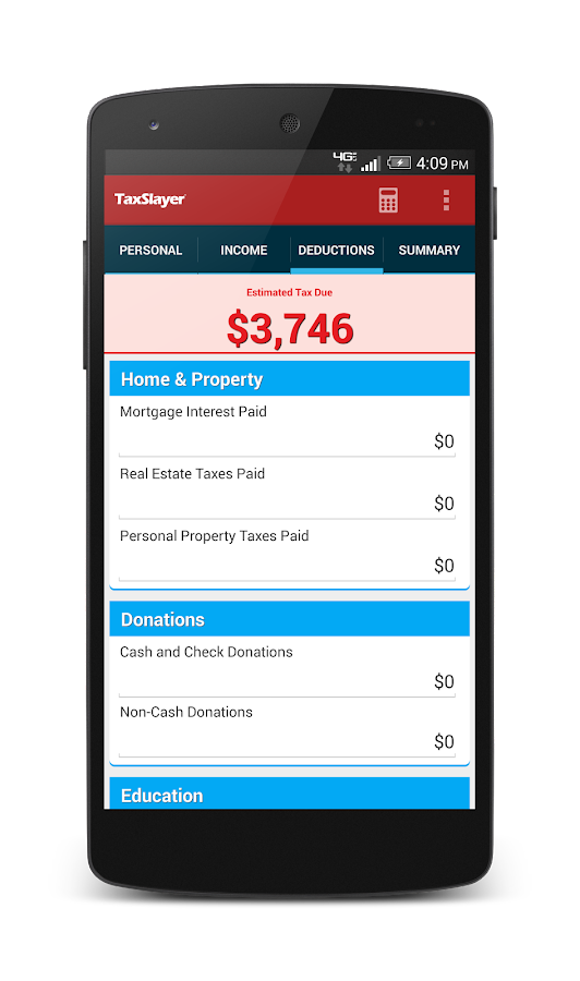 TaxSlayer Refund Calculator- screenshot