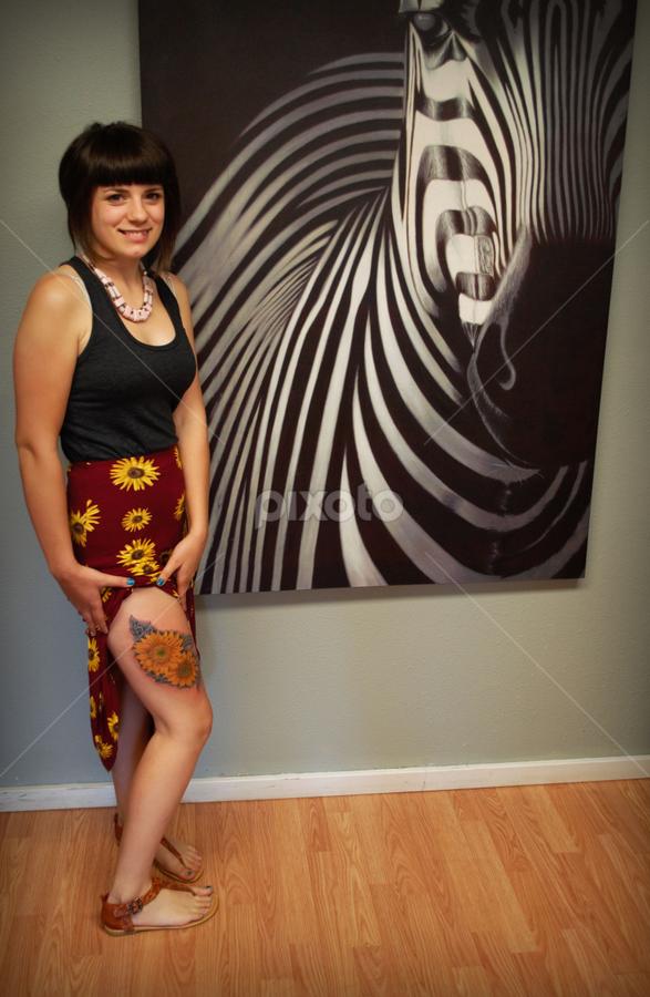 Reesh Sunflower Body Art Tattoos People Pixoto