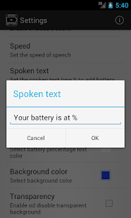 Speak Battery - screenshot thumbnail