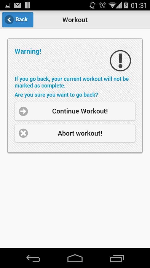 Home Workout - free exercises - screenshot