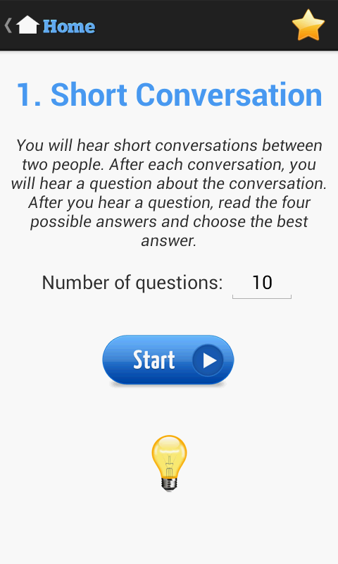 English Listening Test- screenshot