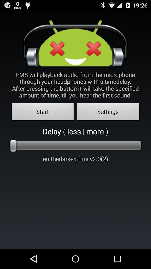 FMS - Audio delay- screenshot