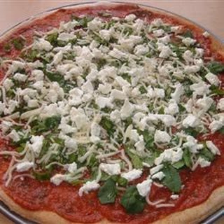 Basil Goat Cheese Pizza.